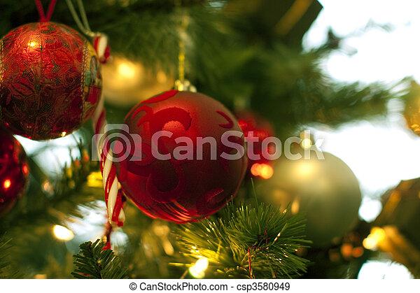christmas tree decorations - csp3580949