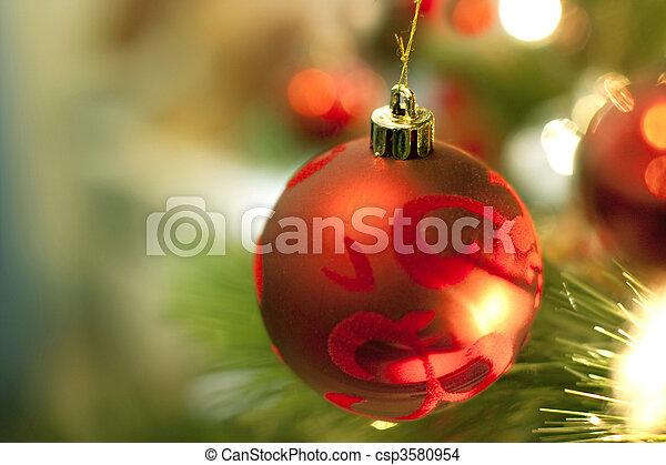 christmas tree decorations - csp3580954