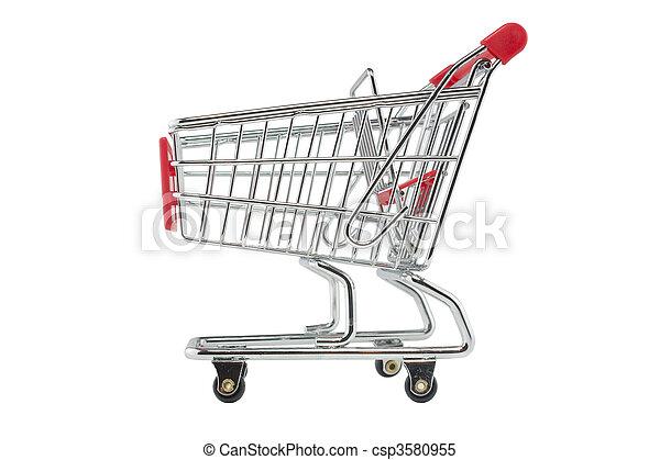 empty shopping trolley - csp3580955