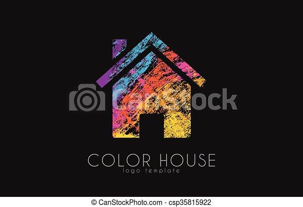 Ilustraciones de vectores de color, casa, creativo, hogar ...