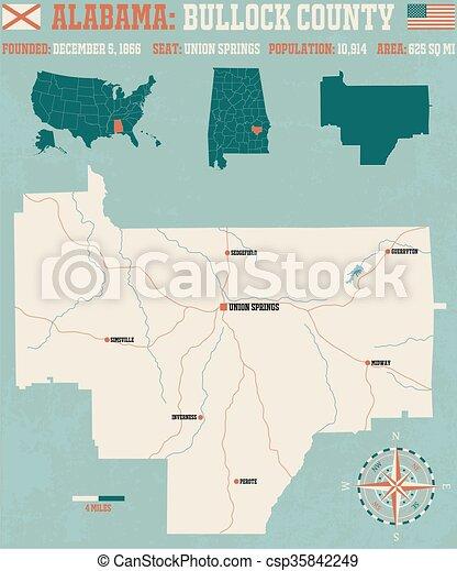 Bullock County in Alabama USA - csp35842249