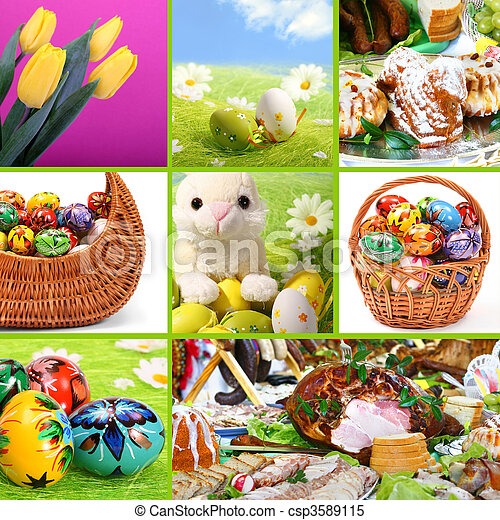 Traditional Easter - themed collage. See similar images in my Portfolio