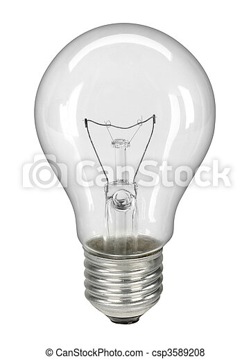 Lightbulb isolated on white - with - csp3589208