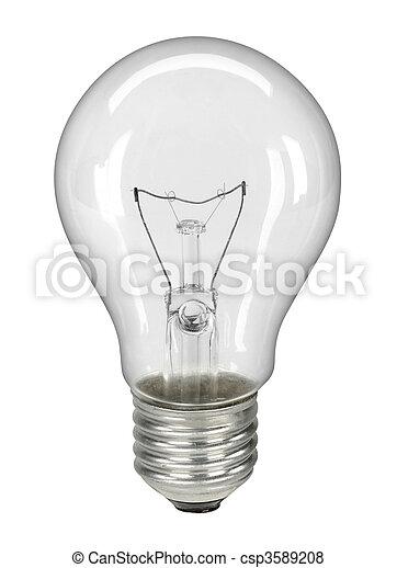 Lightbulb isolated on white - - csp3589208