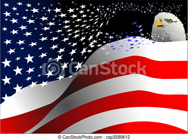 4th July %u2013 Independence day of Uni - csp3589612