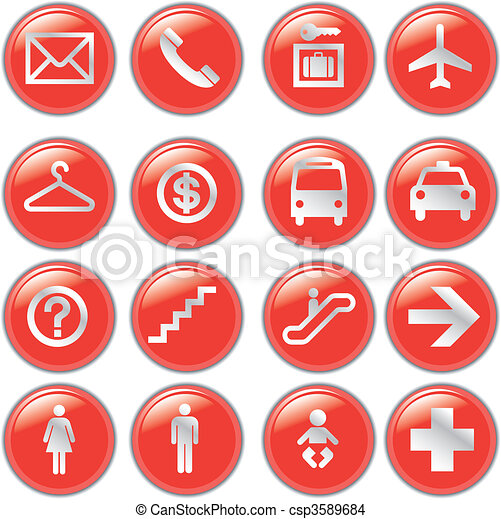 Airport and Travel Icons, Vector Fi - csp3589684