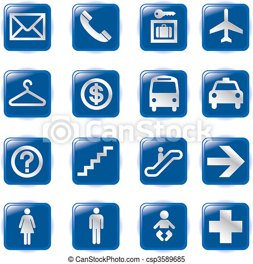 Airport and Travel Icons, Vector Fi - csp3589685