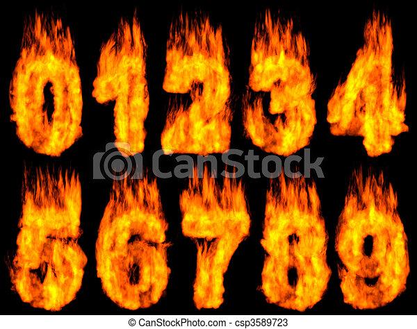 Burning Digits - csp3589723