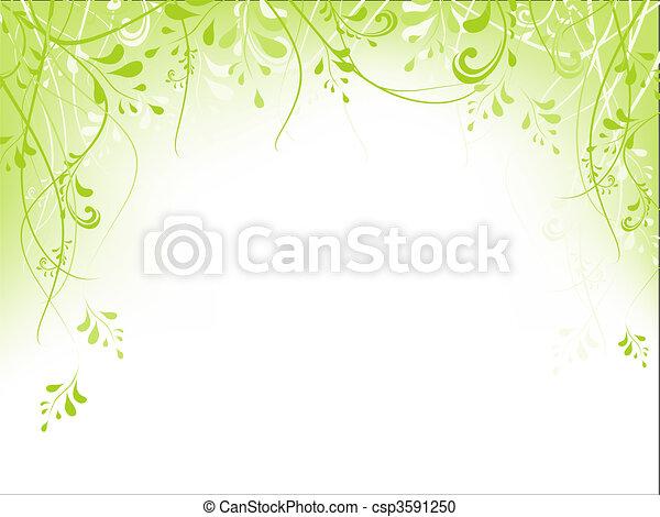 green foliage frame - csp3591250