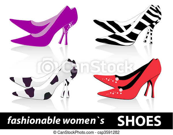 fashionable women`s shoes - csp3591282