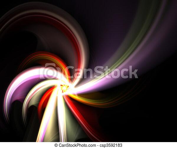 Rotating Fractal Spiral - csp3592183