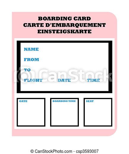 Boarding Pass - csp3593007