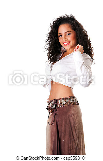 Happy smiling sexy young woman - csp3593101