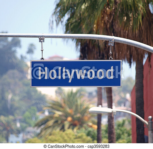 Hollywood Bl Sign - csp3593283