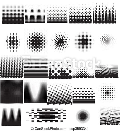 Halftone Collection Set - csp3593341