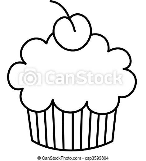Small Cupcakes Drawings Cupcake With a Cherry on Top