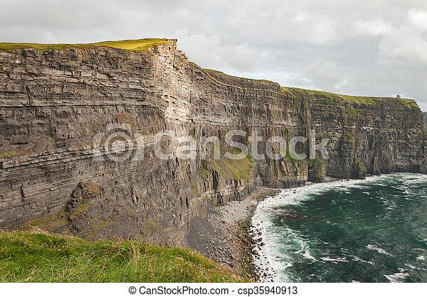 Famous Scenic Cliffs Of Moher, WildAtlanticWay, County Clare, Ireland  - csp35940913