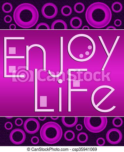 stock illustration von genießen, lila, leben, rosa, kreise, Hause ideen