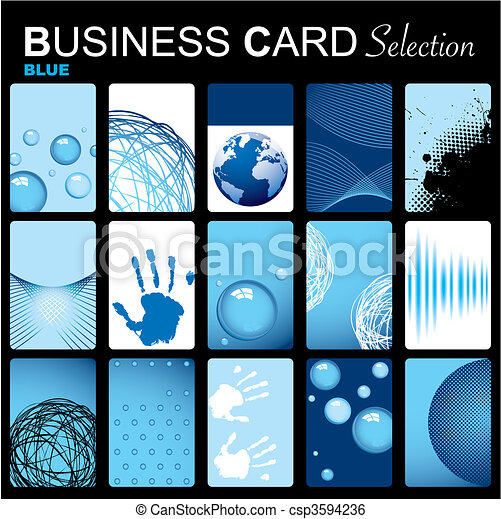 Business card selection - csp3594236