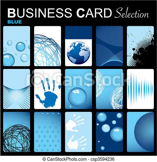 Business card selection - csp3594236