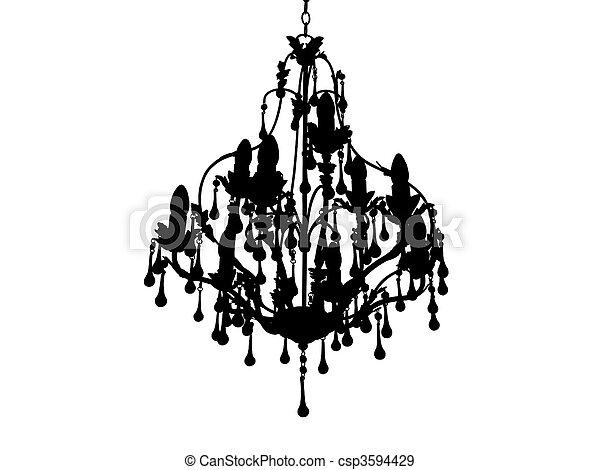 Chandelier silhoutte - csp3594429