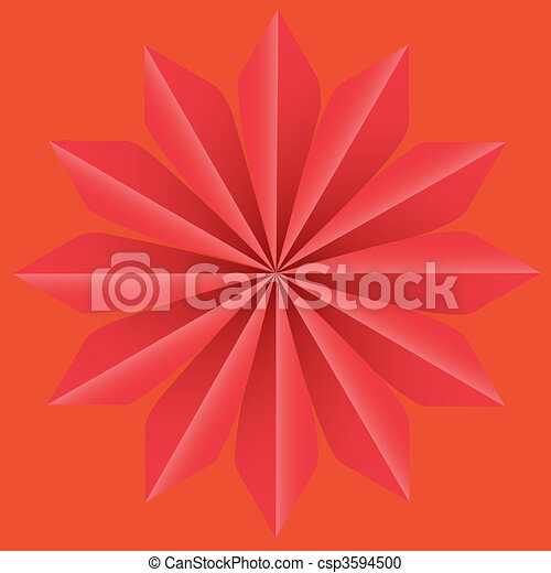 Background Star Op art vector - csp3594500