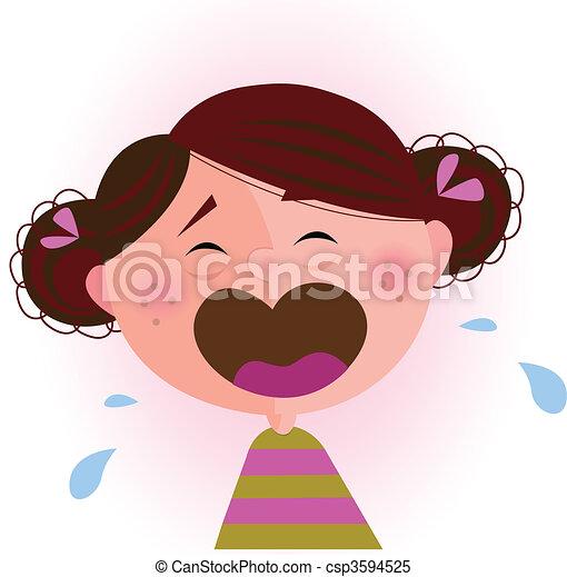 Crying baby girl - csp3594525