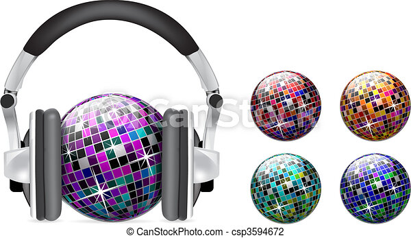 Vector disco ball - csp3594672
