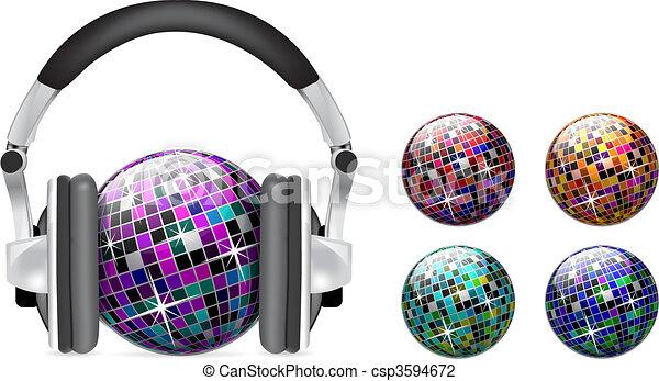 Vector disco ball  - csp3594672