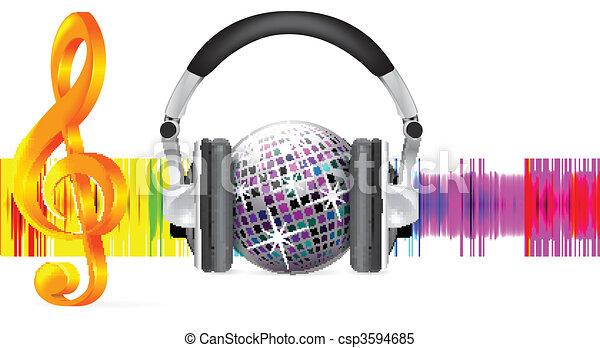 Professional icon of the headphones - csp3594685