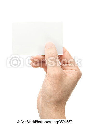 Hand whit a card - csp3594857