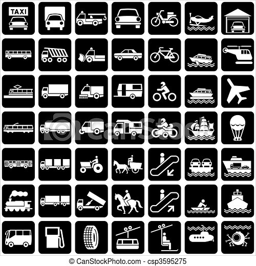 transport icons - csp3595275