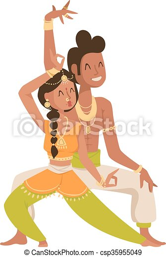 Indian dancer Bollywood traditional party culture.  - csp35955049
