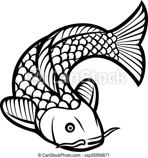 Illustrazioni vettoriali di koi fish illustration di for Carpa giapponese prezzo