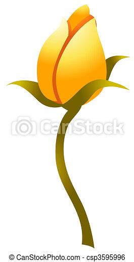 Illustration de bourgeon illustration dessin de jaune - Dessin bourgeon ...