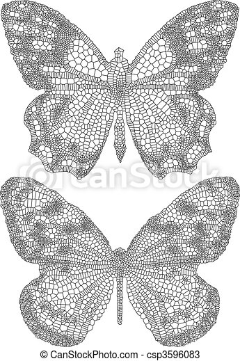butterflies with delicate texture - csp3596083