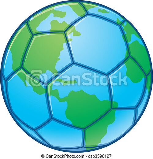 Planet Earth World Cup Soccer Ball - csp3596127