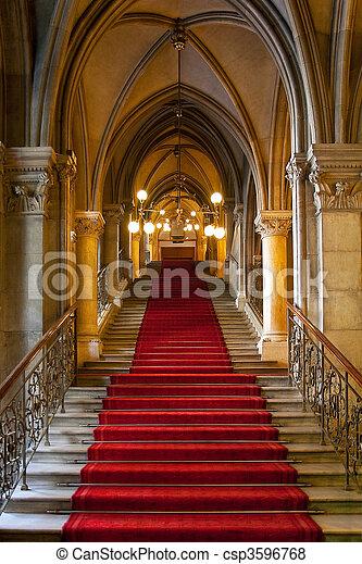 Gothic castle interior - csp3596768