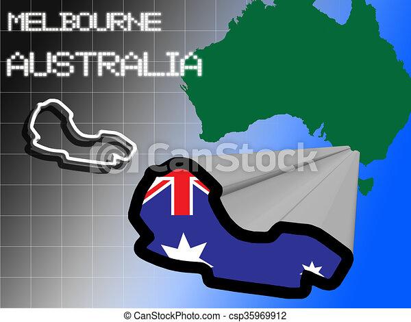 Melbourne race track - csp35969912