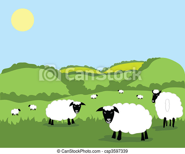 Sheep Flock Drawing Vector Sheep