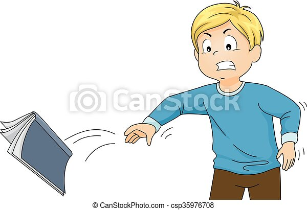 vector clipart of kid boy book throw illustration of a angry man yelling clipart angry man clipart images