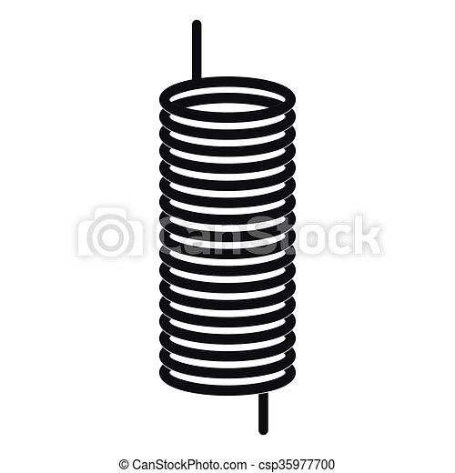 Vector Clipart of Metal spring icon, simple style - Metal spring ...
