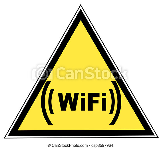 Wifi, zona, advertencia, señal, - - csp3597964