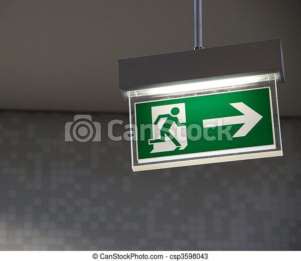 Emergency exit sign - csp3598043