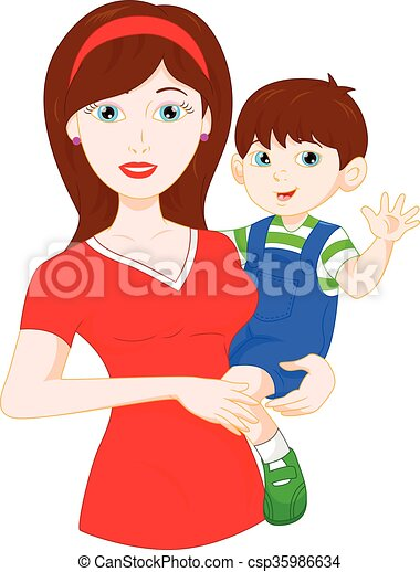 mom and baby - csp35986634