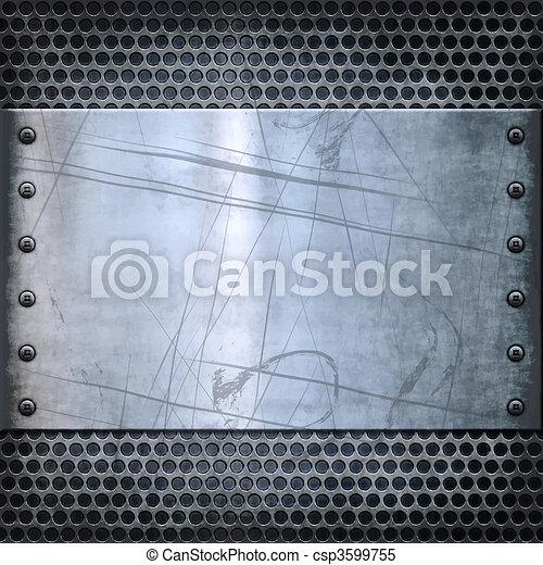 old metal background texture - csp3599755