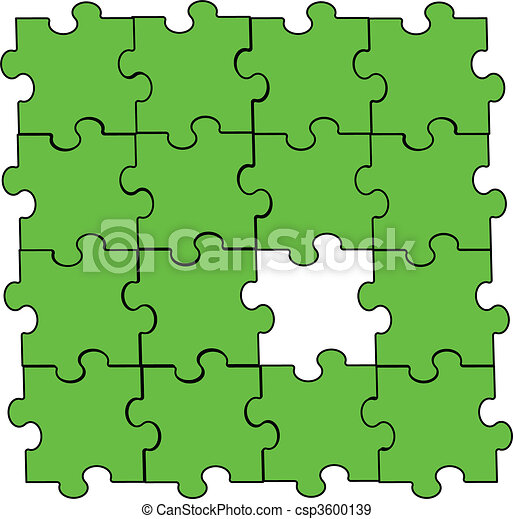 green puzzle piece assembly - csp3600139