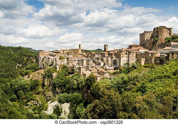 sorano, tuscany village - csp3601226