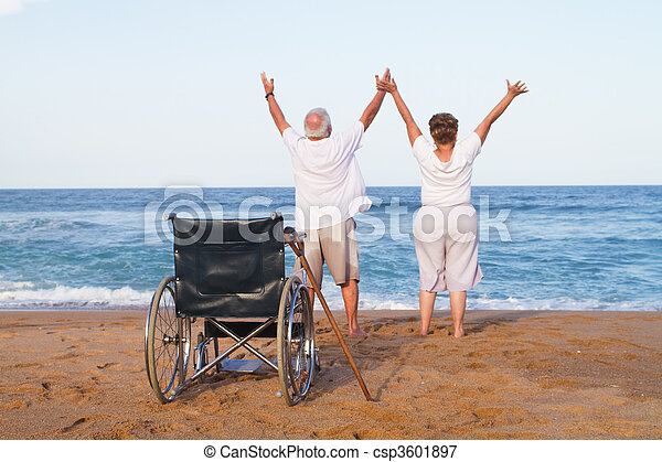 senior couple free from illness - csp3601897