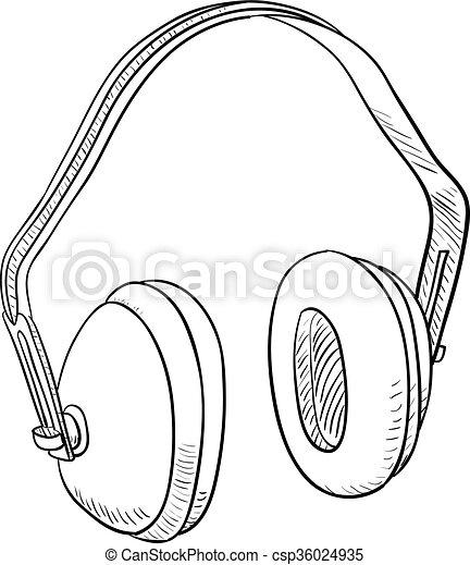 Vectores de auriculares para oreja protecci n o do - Auriculares de proteccion ...